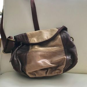 The Sak tri colored brown leather crossbody